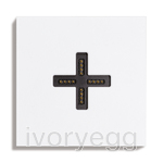 Eve plus wall base cover satin white
