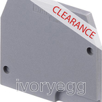 CLEARANCE ITEM - ABB FEM6 GREY END SECTION