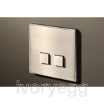 2 Button Select KNX Keypad Nickel with RGB LED and RTC