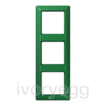 AS 3-gang frame, green