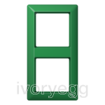 AS 2-gang frame, green