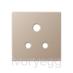 Centre plate for unswitched 5A BS socket, champagne