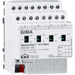 KNX control unit 1-10 V, 4-gang with manual mode