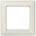 AS 1-gang frame, ivory