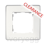 CLEARANCE ITEM - SERIES DETAIL 82 - FRAME, 1 ELEM. WHITE, aluminium base