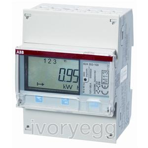 B24-212-100 Electricity Meter B24, Three phase meter, 6 A -Bronze, RS-485