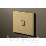 1 Button Select KNX Keypad Brushed Brass with RGB LED and RTC