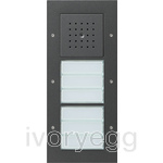 Door Station Surface Mounted with 2 Call-button 3-gang, TX44 Anthracite