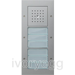 Door Station Surface Mounted with 2 Call-button 3-gang, TX44, Color aluminium