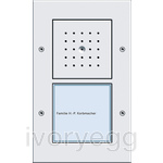 Surface Mounted Door Station - 1 Call Button, Audio TX44 Pure White