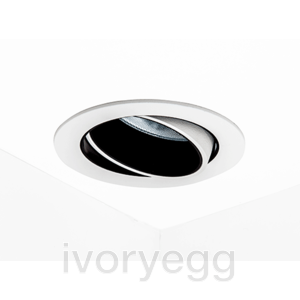 MINI Recessed Tilting LED Downlight Warm Dim 2700K-1800K, Wide Angle