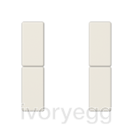 F50 A/AS range Cover kit 2-gang, ivory