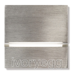 Via Walkway Light Front - brushed nickel