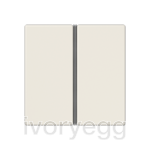 F40 A/AS range Cover kit 2-gang, ivory