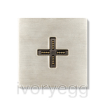 Eve plus wall base cover brushed nickel
