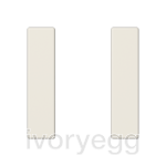 F50 A/AS range Cover kit 1-gang, ivory
