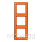 AS 3-gang frame, orange