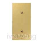 LS 1912 2-gang vertical centre plate with 2 cylinder toggle levers - classic brass
