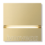 Via Walkway Light Front - brushed brass