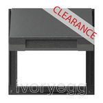 CLEARANCE ITEM - GIRA Adapter frame Hinged cover Gira TX_44 (WP FM) Anthra.