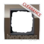 CLEARANCE ITEM - GIRA Cover frame, 1-gang for anthracite Gira Event Clear Brown