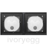 System 106 SM housing 2gang module Traffic white (lacquered)