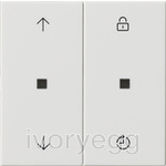 eNet wireless operating top unit Memory, System 55, arrow symbols, pure white glossy