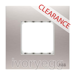 CLEARANCE ITEM - ABB Millenium AMD56144-ST Double rocker Frame 1 gang