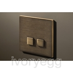 2 Button Select KNX Keypad Bronze Antique with RGB LED and RTC