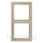 Le Corbusier 2-gang frame, ombre natural claire (clear natural)