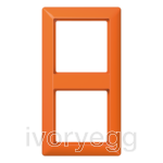AS 2-gang frame, orange