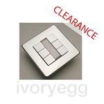 CLEARANCE ITEM - CRABTREE 6 gang Pushbutton Platinum EIB, highly polished chrome