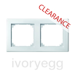CLEARANCE ITEM - MERTEN M-SMART frame, 2-gang, polar white 484219