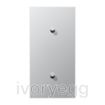 LS 1912 2-gang vertical centre plate with 2 cone toggle levers - aluminium