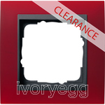 CLEARANCE ITEM - GIRA Cover frame, 1-gang for anthracite Gira Event Opaque red