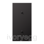 LS 1912 2-gang vertical centre plate with 2 cylinder toggle levers - dark aluminium
