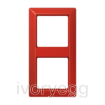 AS 2-gang frame, red