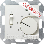 CLEARANCE ITEM - GIRA System 55 Room temperature controller 230 V~ with sensor, pure white matt
