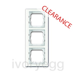 CLEARANCE ITEM - 1723-280 Cover Frame 3-gang