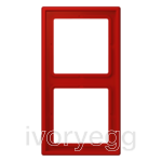 Le Corbusier LS range 2-gang frame, rouge vermillon 31 (red)