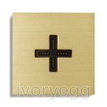 Eve plus wall base cover brushed brass