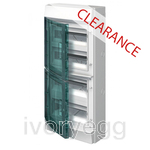 CLEARANCE ITEM - ABB Mistral65 transparent door 72M - pre punched knockouts