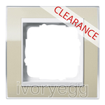 CLEARANCE ITEM - GIRA Cover frame, 1-gang for pure white Gira Event Clear sand