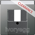 CLEARANCE ITEM - GIRA Cover in. sp. TAE USB Gira E22 Stainless Steel