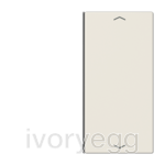 F40 LS range Cover kit 2-gang, with symbols, ivory