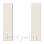 F50 LS range Cover kit 1-gang, ivory