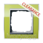 CLEARANCE ITEM - GIRA Cover frame, 1-gang f. Colour Aluminium Gira Event Clear green