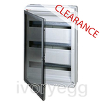 CLEARANCE ITEM - ABB IP65 Wall Mounting 54-Module Unit - Transparent Grey Door