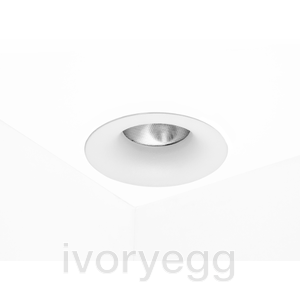 CURVE Fixed LED Downlight Warm Dim 2700K-1800K, Wide Angle