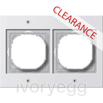 CLEARANCE ITEM - GIRA TX 44 (WP FM) Cover frame 2-gang, pure white